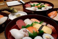 meal, sashimi, california roll, sushi, gimbap, food, dish, cuisine, osechi,