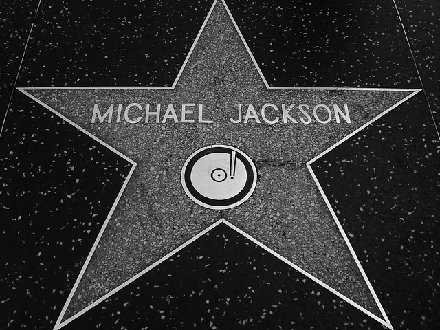 RIP Michael Jackson's Star On Hollywood Blvd