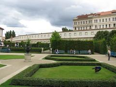 Neatly kept Wallenstein Gardens, Prague