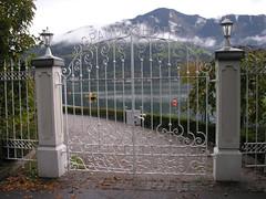 Gate to lake