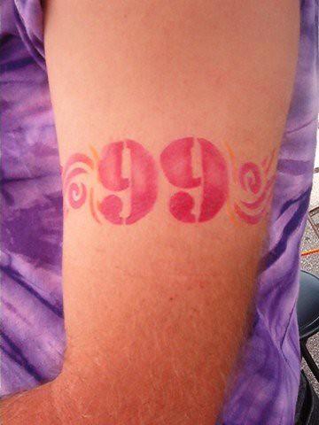 Tribal 99 Airbrush Tattoo