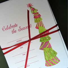 Holiday Party Hat invitations