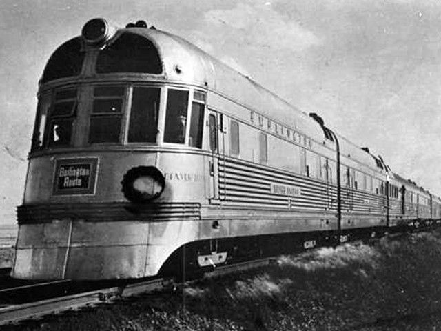 burlington s denver zephyr train date unknown flickr photo sharing. Black Bedroom Furniture Sets. Home Design Ideas