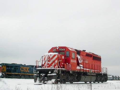 Canadian Pacific and CSX motive power. Bensenville Yard. Bensenville Illinois.  Early February 2008. by Eddie from Chicago