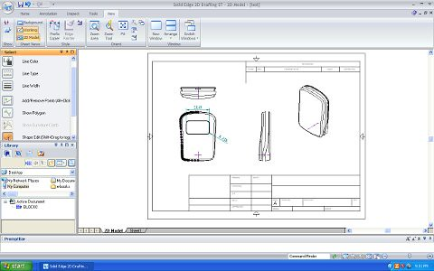 Solid edge 2d drafting free 2d cad software studio rola for Online 2d drafting software