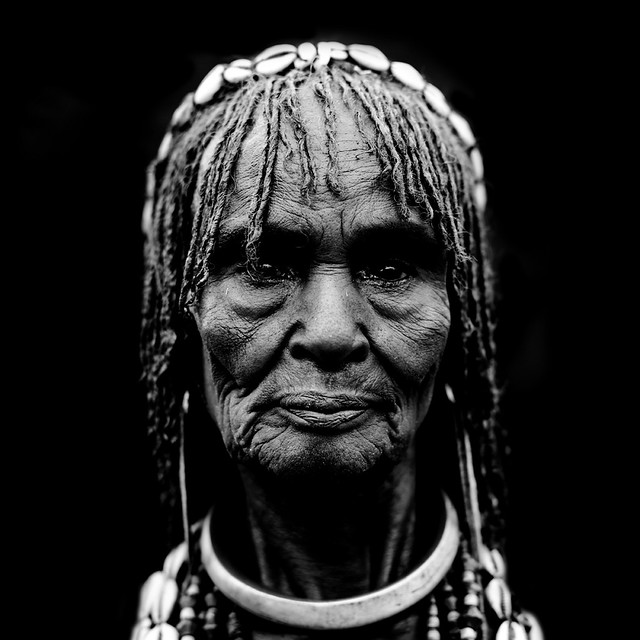 Old hamar woman Ethiopia