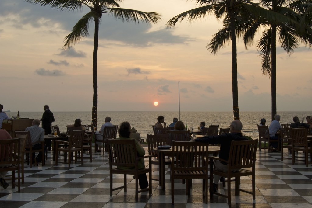Sunset by the terrace, Galle Face Hotel