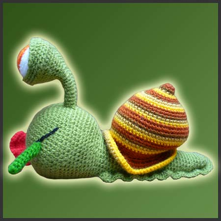 Tutorial Caracol Amigurumi Snail : Melvin, The Snail - Amigurumi Pattern by DeliciousCrochet ...