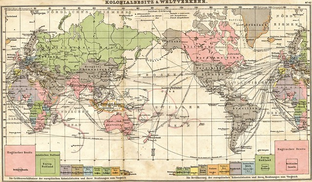 1905 world map in German from Flickr via Wylio
