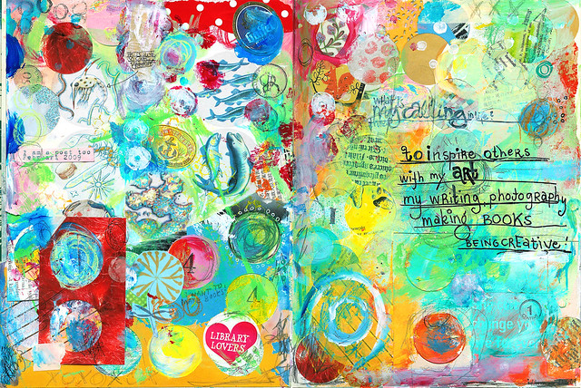 Art Journal page: What is your calling (copyright Hanna Andersson)