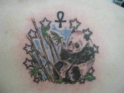 Dre's panda tat