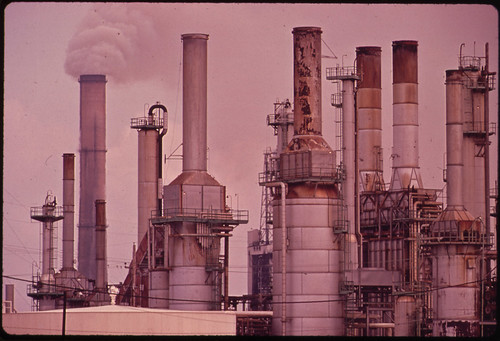 Smokestacks of Chemical Plant 11/1972