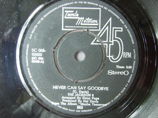 The Jackson 5 - Never Can Say Goodbye / She's Good (The Corporation TM), 7 Inch Single 45rpm, Tamla Motown 5C 006-92400