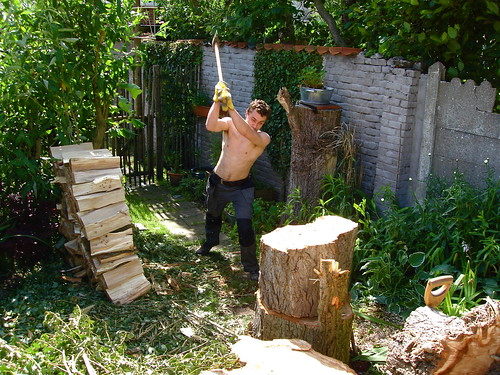 chopping wood by macetaria
