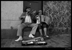 Músicos en el Sacre Coeur