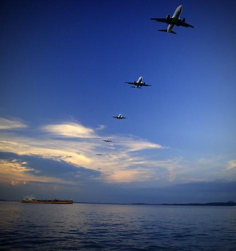 Flight Landing - Layered