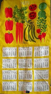 Vera 1971 Tea Towel - Veggies