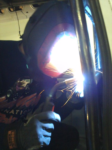 Rory Welds the Cage