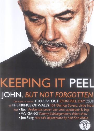 Keeping It Peel poster for John Peel Day 2008