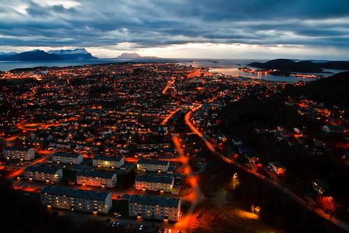 Bodø by night (1. november 2008)