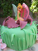 Tinkerbell Cake Top Close up