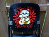 lucky cat art on high chair sneak peek at