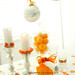 Orange Bowl Party Table Decor