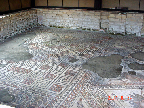 Mosaic at Chedworth Roman Villa, England