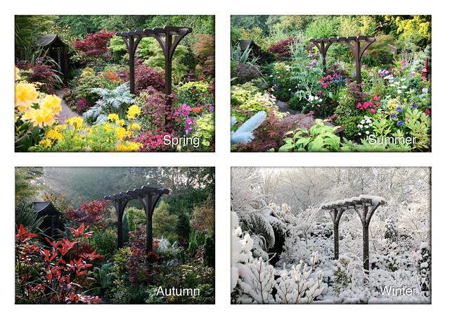 Four Seasons Garden Pergola View Spring Summer Autumn Wi Flickr Photo Sharing