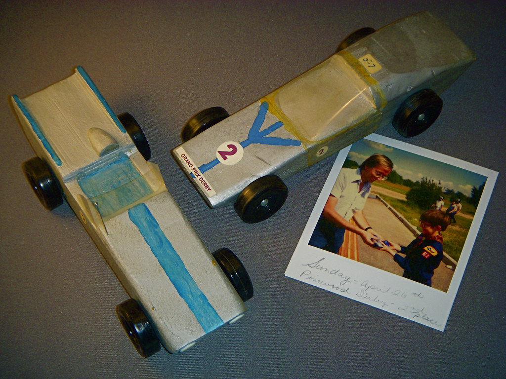 1978 And 1981 Pinewood Derby Cars