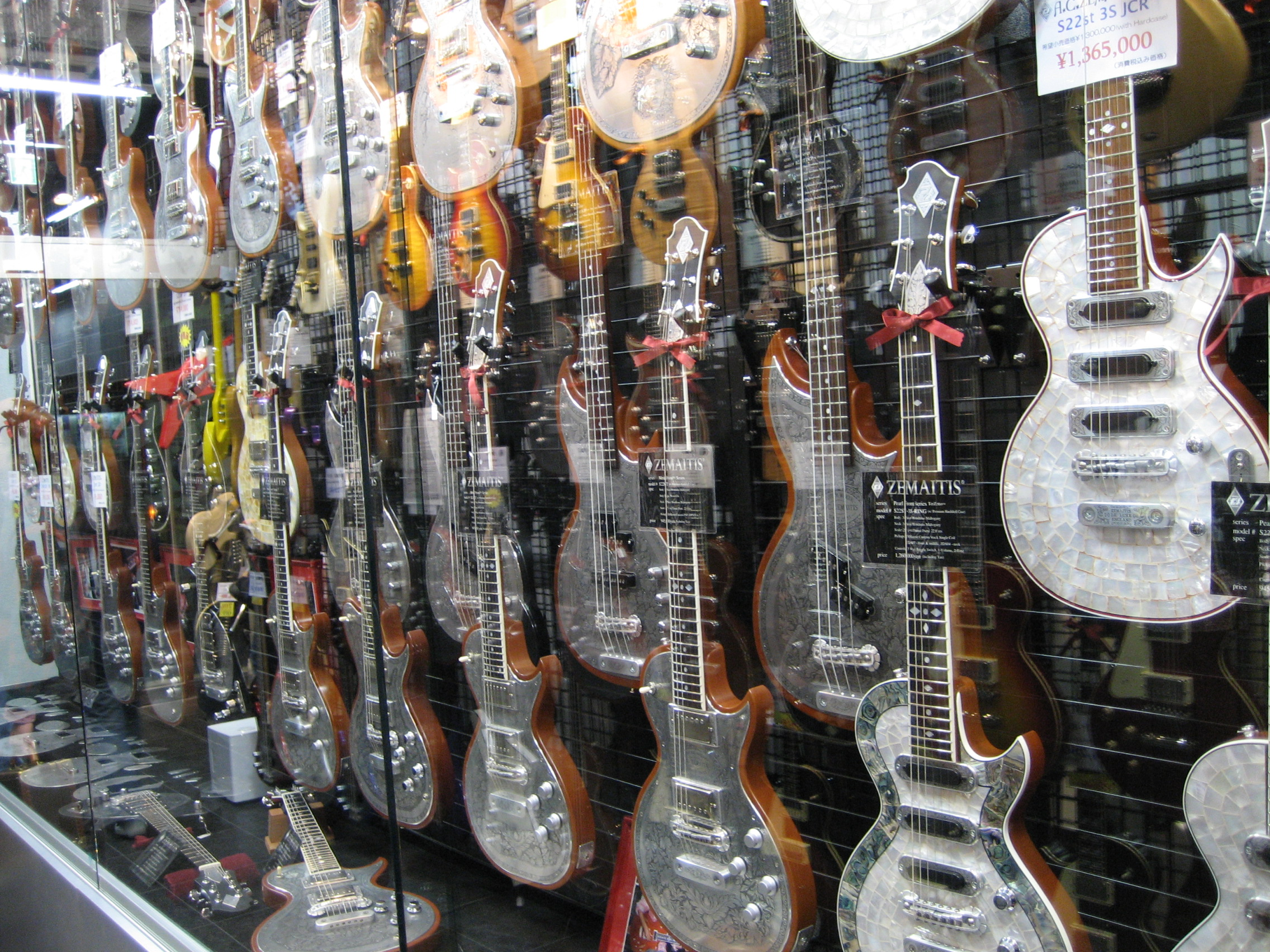 Zemaitis Guitar Display