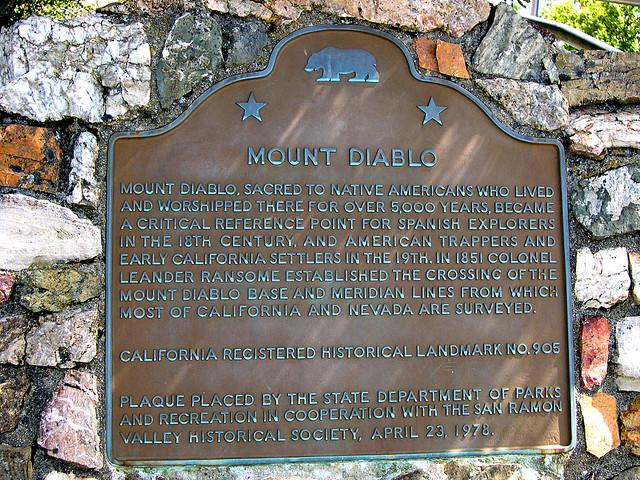 Mount Diablo Historical Landmark