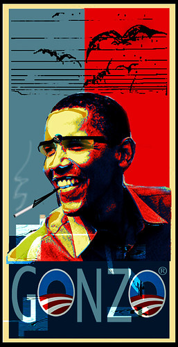 GonZObama® August 28, 2008 by Stephen R Mingle /Gonzo®