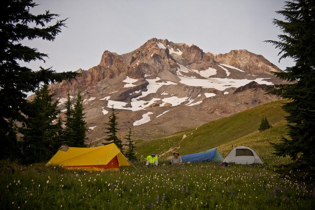 Camping at the base of Mt Hood