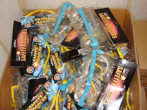 EpicFireworks - box full of safety goggles