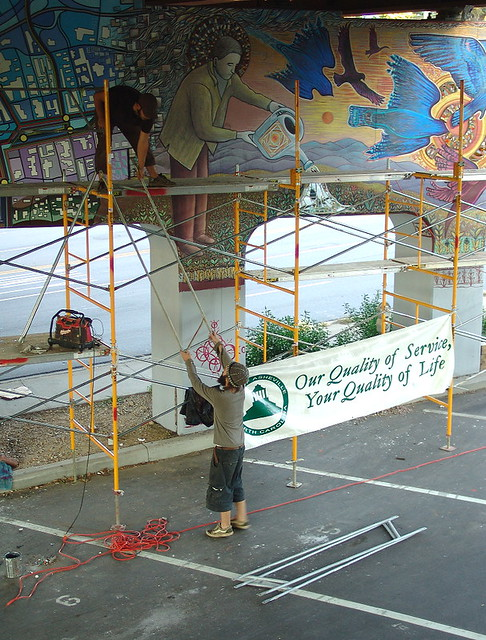 Amp scaffold down 1 explore zen 39 s photos on flickr zen for Asheville mural project