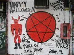 Satanic Mural on the Wall of Mars Bar