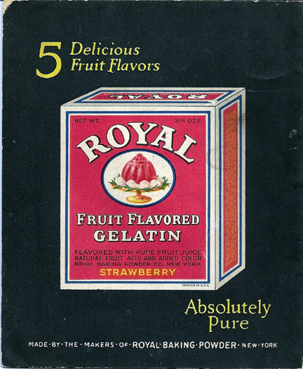 Royal Fruit Gelatin back