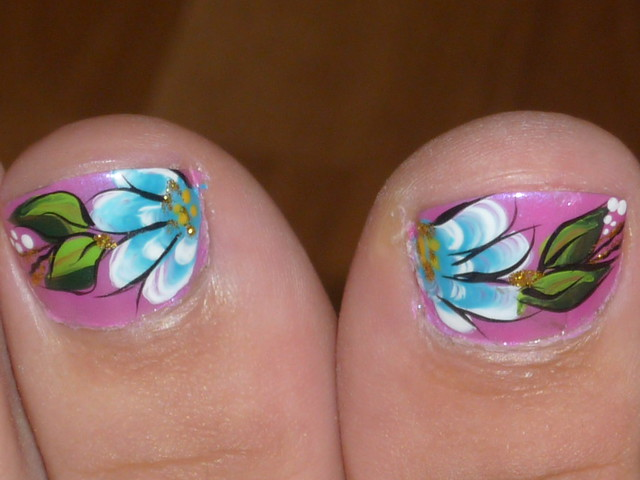 Painted toe nails | Flickr - Photo Sharing!
