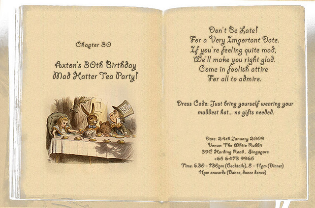 mad hatters tea party invitation | alesi, Party invitations