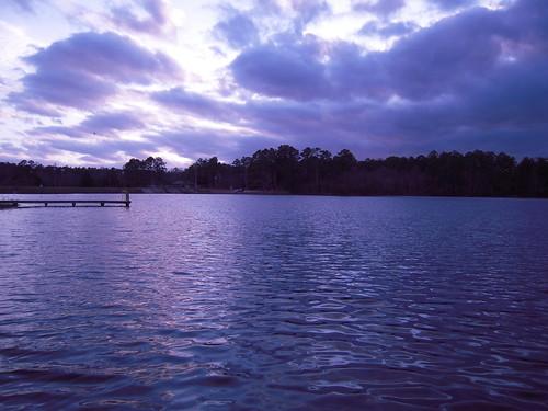 sunset sky lake nature water clouds carolina