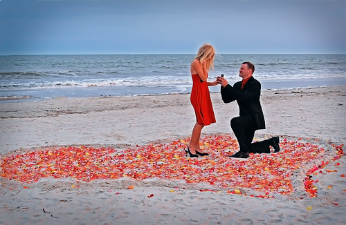 romantic beach engagement proposal idea