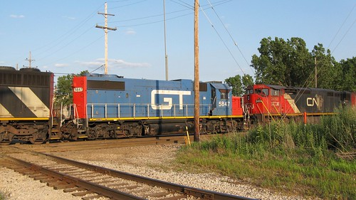 Southbound Canadian National Railroad transfer train. Hawthorne Junction. Chicago / Cicero Illinois. June 2008. by Eddie from Chicago