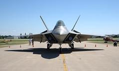 lockheed martin f-35 lightning ii(0.0), mcdonnell douglas f-15 eagle(0.0), lockheed martin f-22 raptor(1.0), aviation(1.0), airplane(1.0), wing(1.0), vehicle(1.0), fighter aircraft(1.0), jet aircraft(1.0), aircraft engine(1.0), air force(1.0),