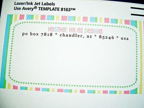 Heatherhalesdesignscom blog archive make your own for How to print your own shipping labels