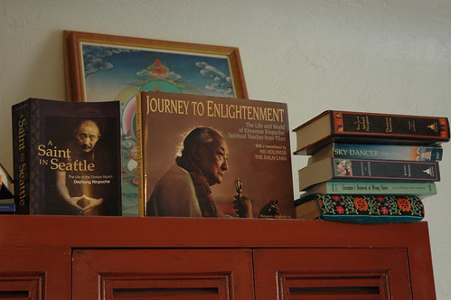 Buddhist Books, A Saint in Seattle (Dezhung Rinpoche), Journey to Enlightenment (Dilgo Khyentse Rinpoche), Sky Dancer (Yeshi Tsogyal), Seattle, Washington, USA by Wonderlane