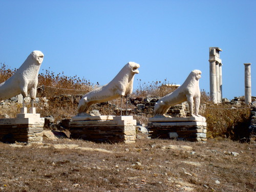 The Naxian Lions Terrace of Delos (Δήλος : Άνδηρο Λεόντων)