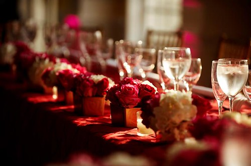 Red And Gold Wedding Table Decorations from farm4.staticflickr.com