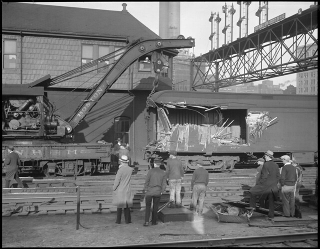 Train wreck near signal bridge no. 6, South Station