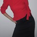 ILGWU Red & Black Dress. Size 7/8. International Ladies Garment Workers Union tag. Great Condition.